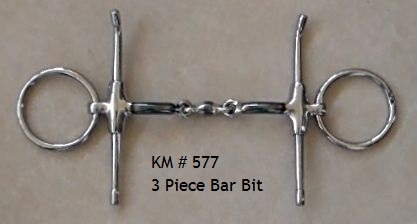 3 Piece Mouth ~ Bar Snaffle